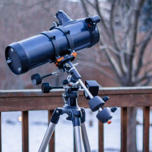 تلسکوپ بازتابی با سهپایه استیل و مقر استوایی